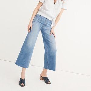 Wide Leg Crop Jeans: button-front edition - 26